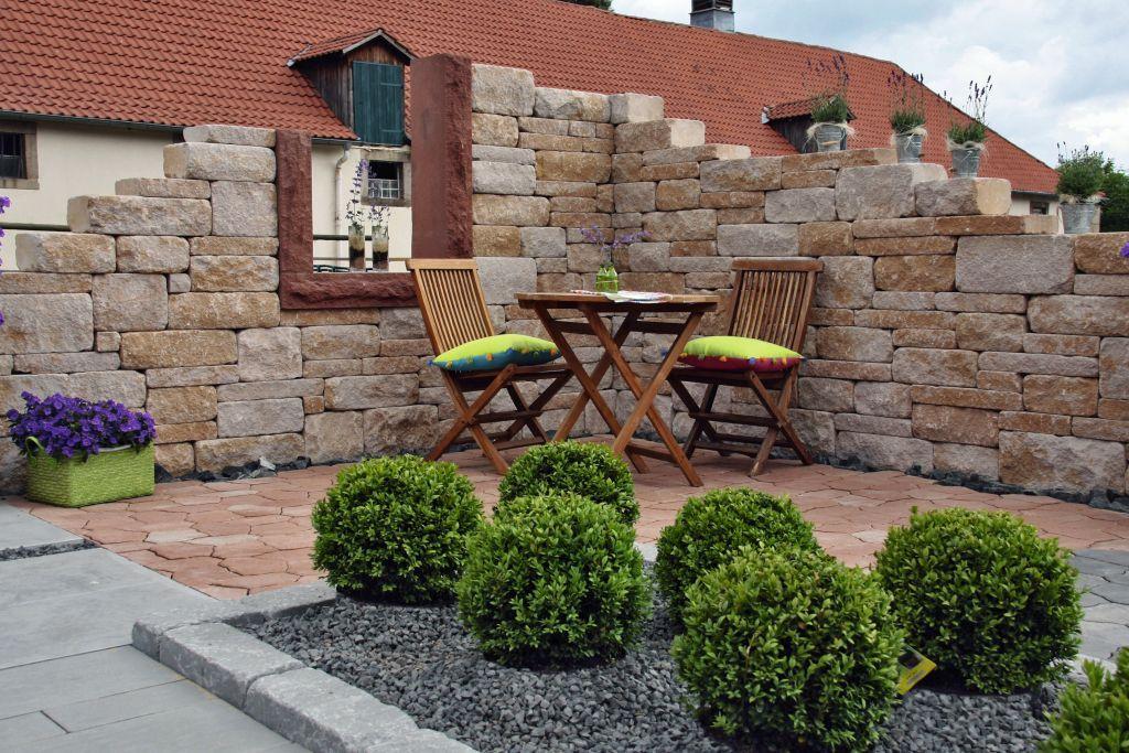 Gartenmauer Muro Romano Steinmauer Garten Gartenmauer Garten
