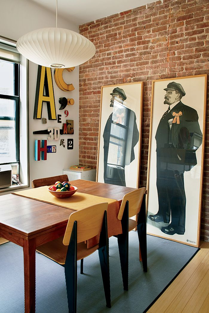 Dining Area   Industrial Chic   Vintage Poster Decor With Mid Century Modern  Furnishings U0026 Light
