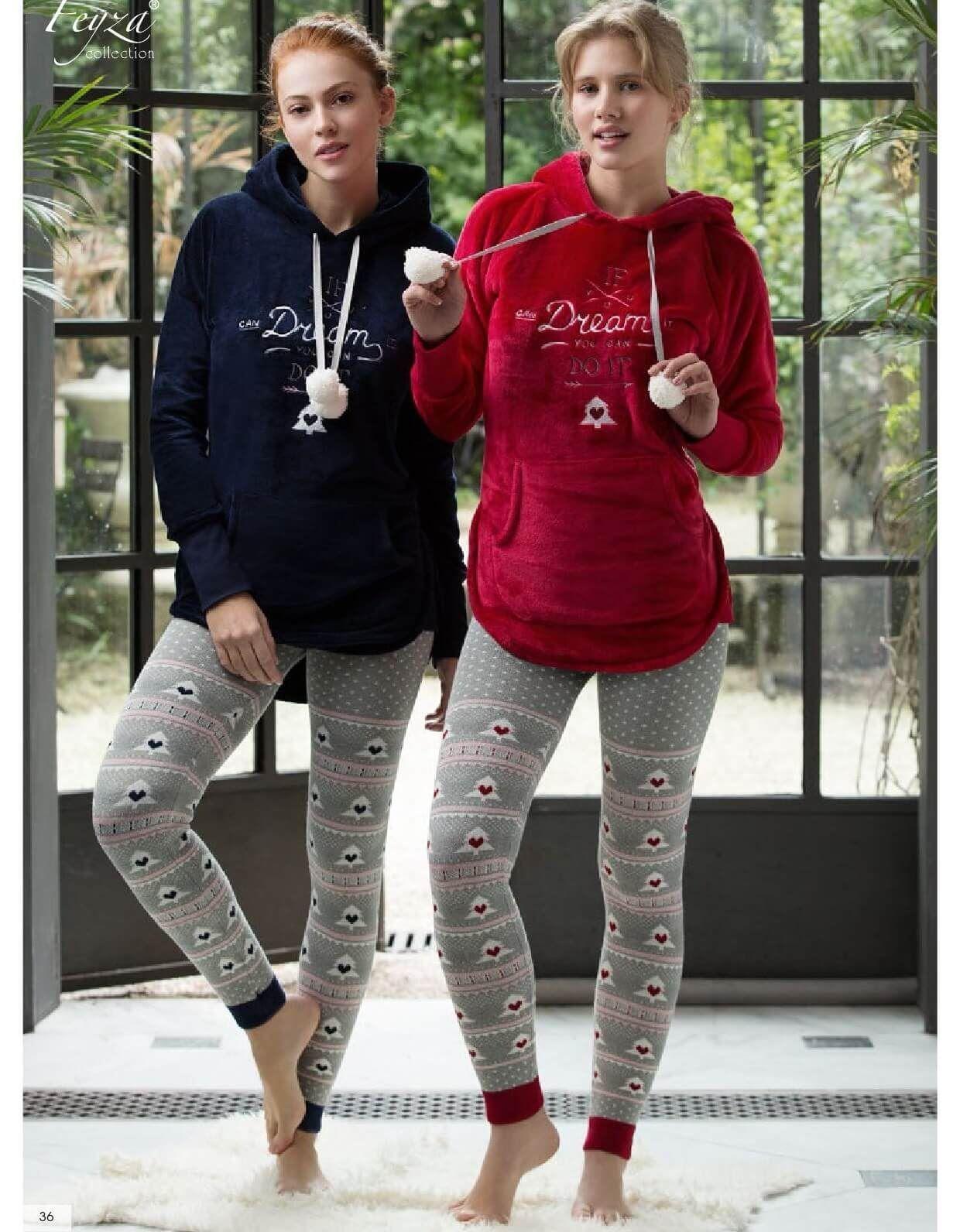 Feyza 3148 Triko Taytli Polar Bayan Takim Hediyelikler Kadin Giyim Hediyelik Yilbasihediyesi Yilbasihedi Sports Wear Women Girls Activewear Pajamas Women