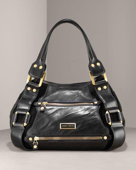 bbb12fb77bb Jimmy Choo black Mahala | Purse Envy | Louis vuitton handbags, Jimmy ...