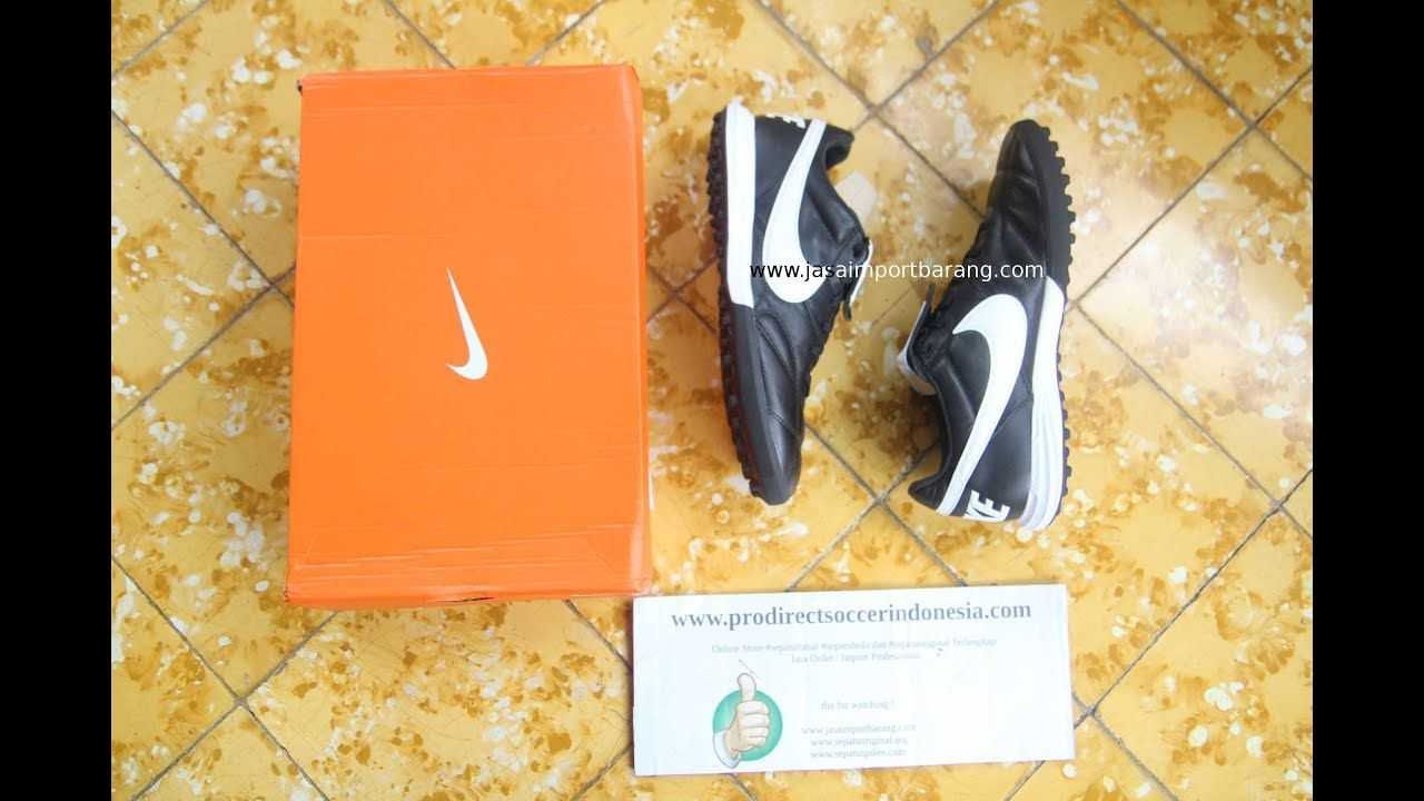 Sepatu Futsal Nike Premier II TF Black White AO9377 010