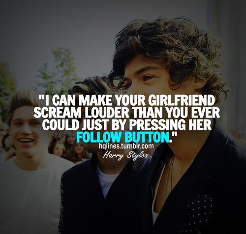 Lord I cannot tell you how loud I'd scream if he followed me! Or if any of them followed me! I'd probably hyperventilate.....;) #directionquotes