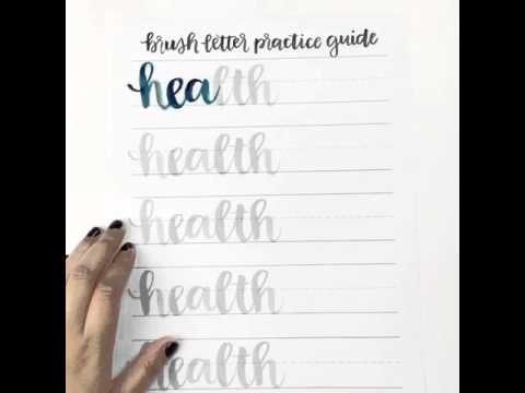 Brush Lettering - Health