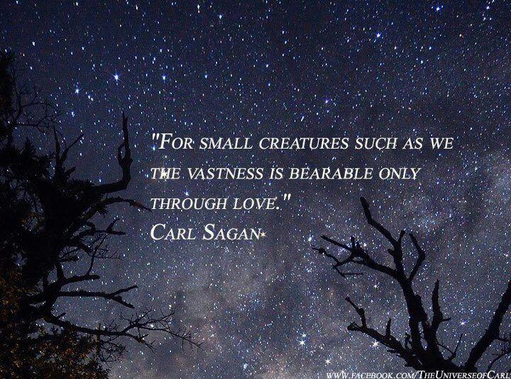 Bearable through love-Carl Sagan