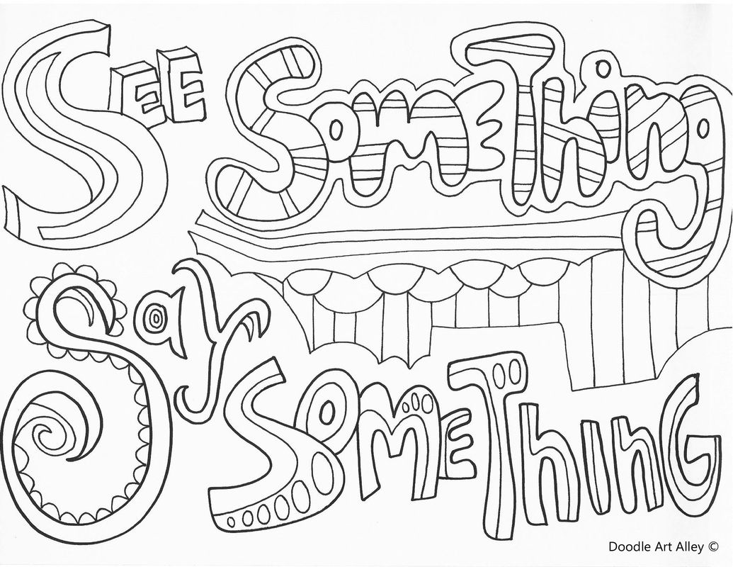 Doodle Alley Coloring Pages