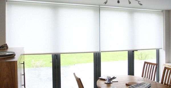 roller blinds over bifolding doors