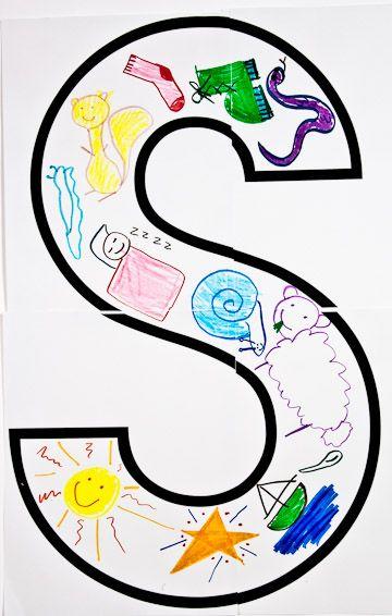Selecionar a letra e imprimir Desenho de palavras começadas pela letra Learn the alphabet - big learning from big letters