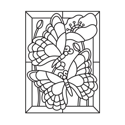 Embossing Folder: MOSAIC BUTTERFLY by Darice Embossing