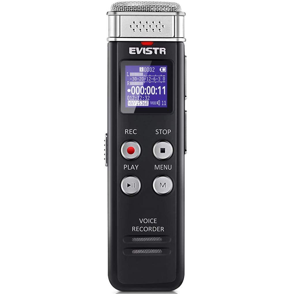 Evistr 16gb digital voice recorder voice activated