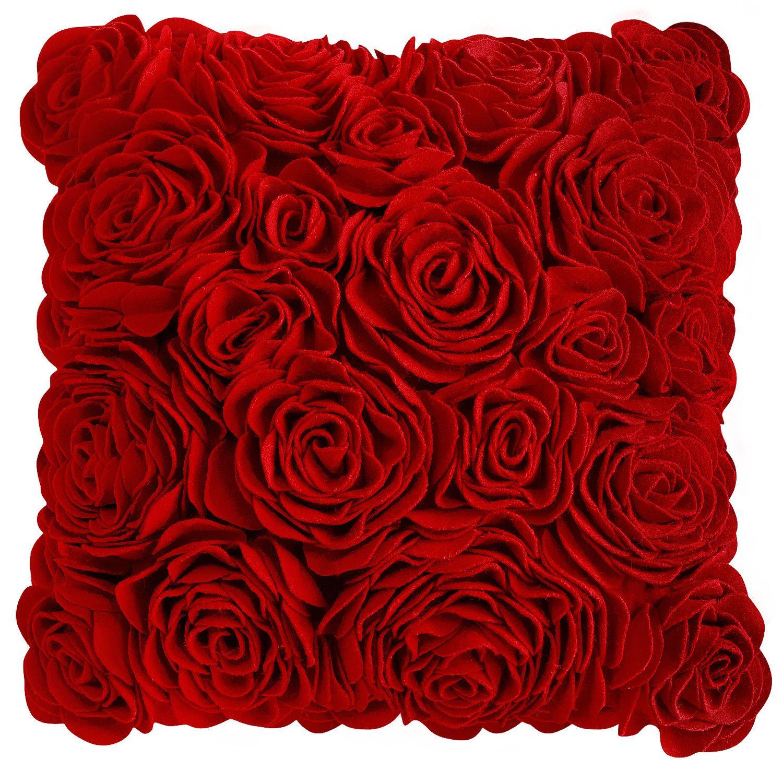 Felt Roses Pillow