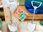 Sand Shovel bottle openers - beach theme wedding or party favors COUPON is freeshipping