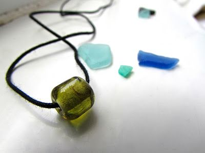 Melted Sea Glass Bead