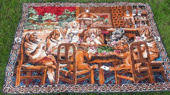 Dogs Playing Poker Tapestry Wall Hanging By Ladybugzgemz On Etsy 75 00 Dogs Playing Poker Bob Marley Tapestry Tapestry
