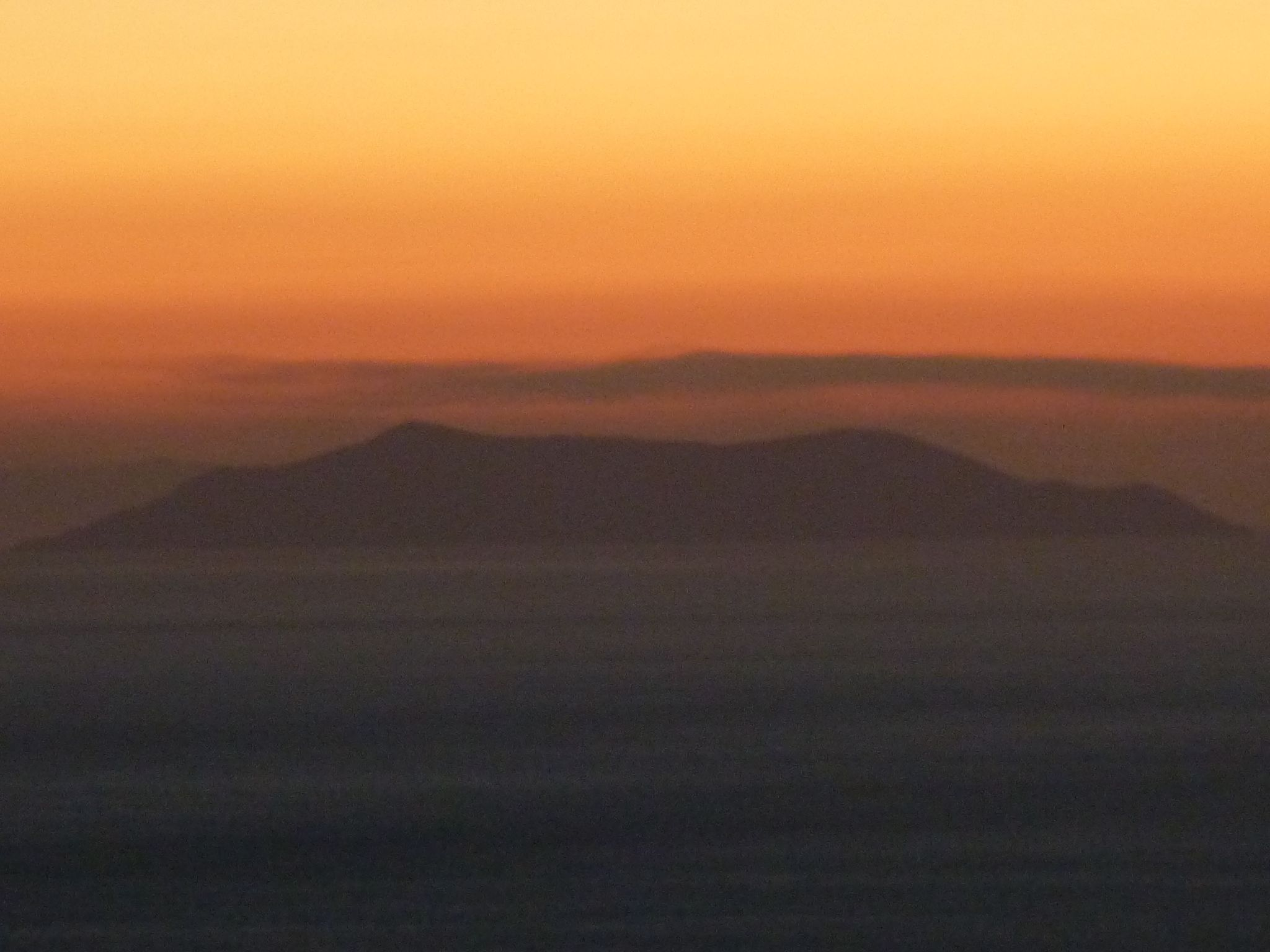 View from Tinos island over Agean sea and Gyaros island