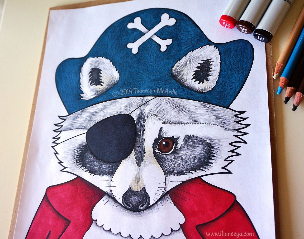 Pirate Raccoon Coloring Page From Thaneeya McArdles Dapper Animals Book
