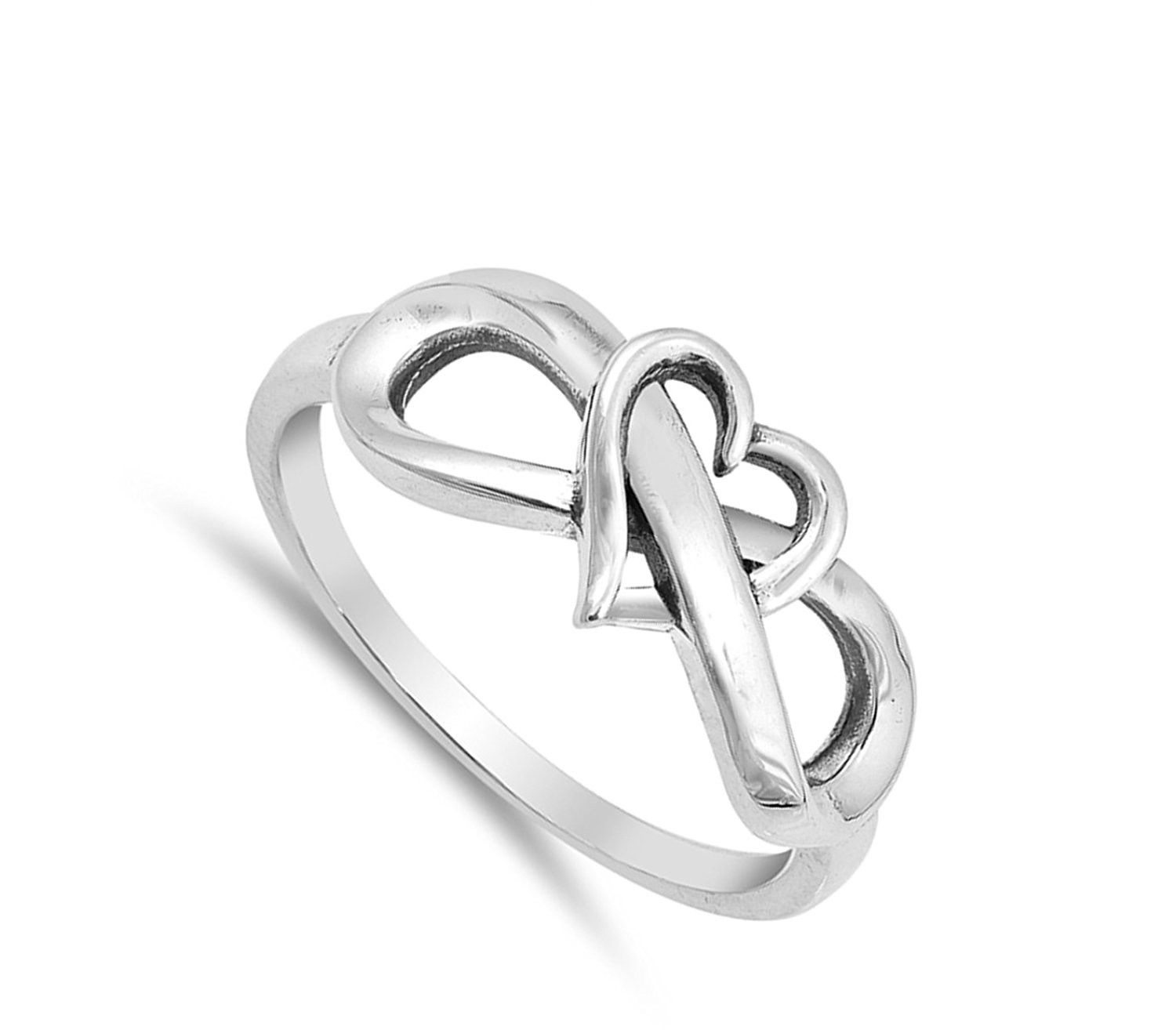 600fbede8fdf8 CHOOSE YOUR COLOR Sterling Silver Infinity Love Knot Heart Promise ...