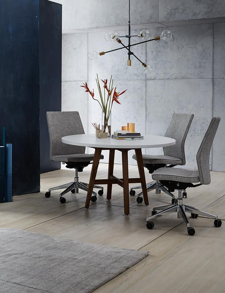 Contoured midback armless upholstered task chair a