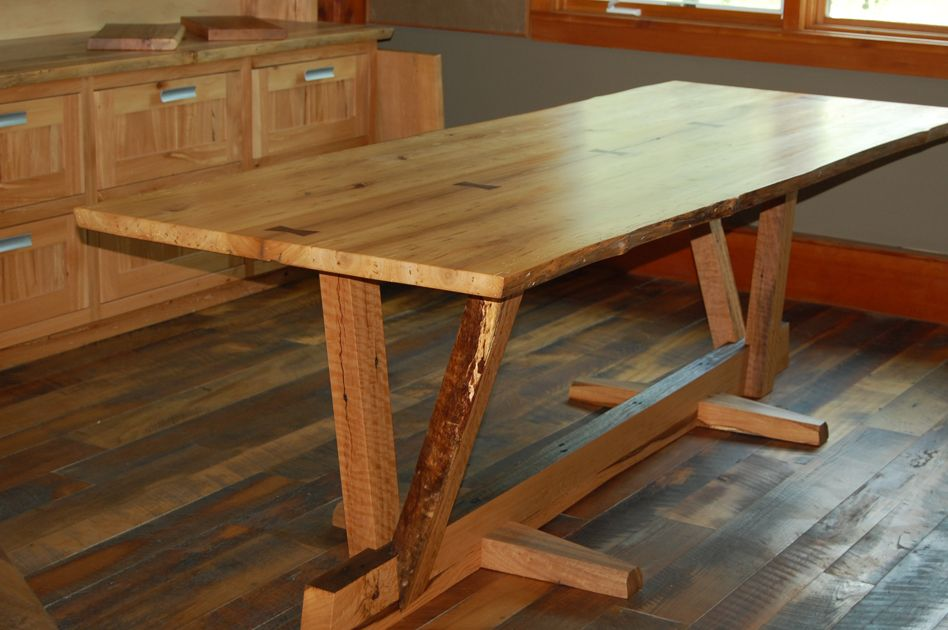 Reclaimed Wood Dining Table Timber Frame Case Study Wood