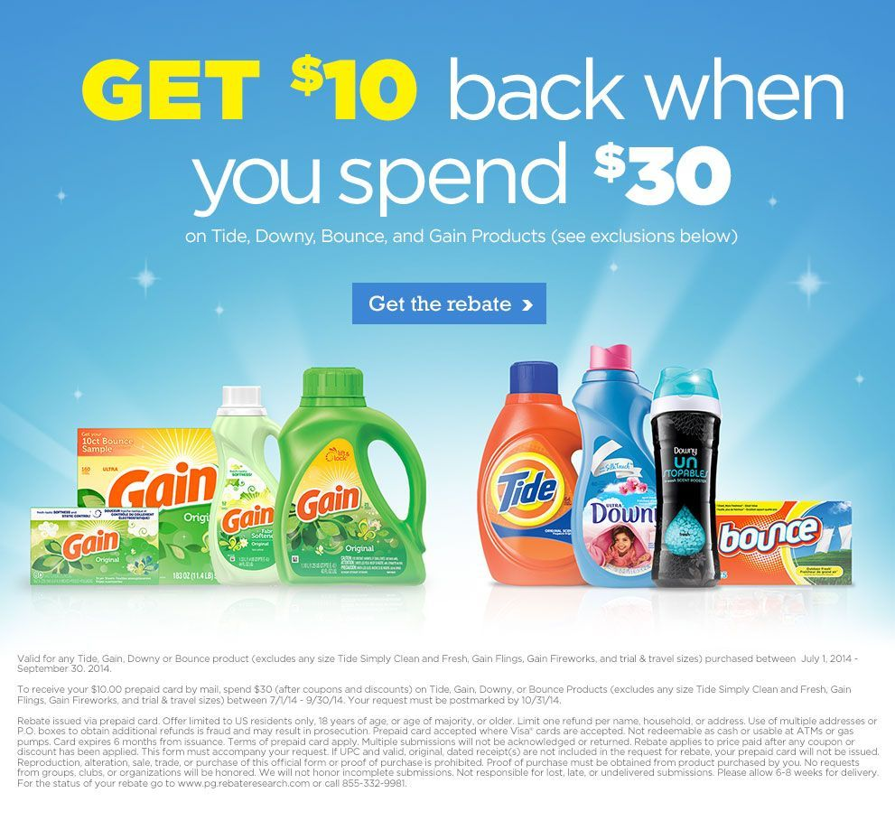 New P G 10 Rebate Offer Coupons And Deals Savingsmania New Proctor And Gamble 10 Rebate Offer Match Up With The Tide In 2020 Rebates 10 Things Visa Gift Card