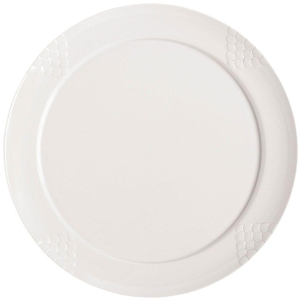 Sonoma 20 inch Round Plate White Melamine/Case of 6