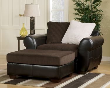 Voltage 2 Piece Chair Ottoman Set Chocolate Ashley Voltage Collection Home Gallery Stores Chair And Ottoman Set Chair And A Half Ottoman In Living Room