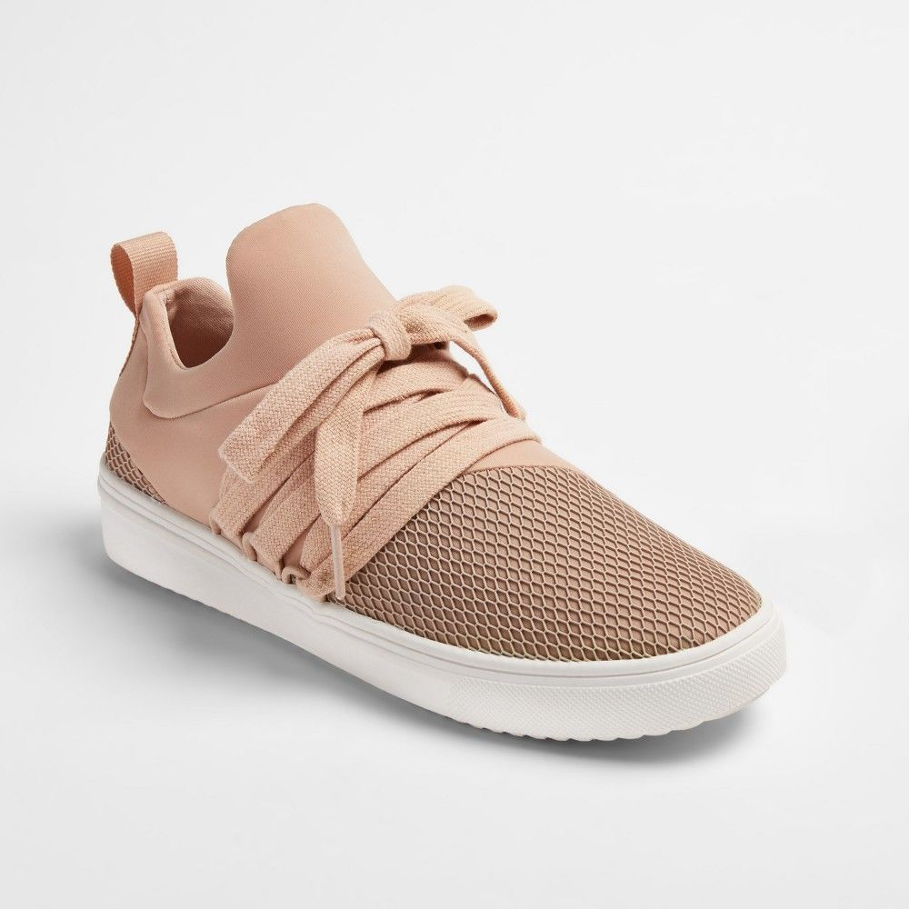 d760e41ae15 Women s Kressi Lace Up Sock Top Sneakers - Mossimo Supply Co. Blush ...
