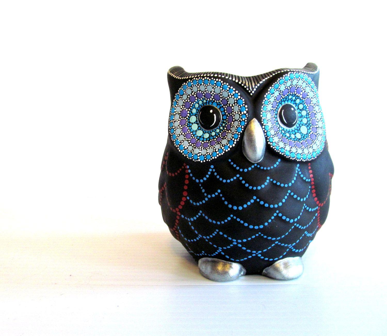Owl Vase Small Hand Painted Ceramic Owl Vase Or Pencil Holder Etsy Ceramic Owl Owl Painting Owl Vase