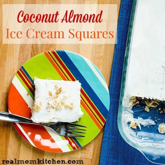 Coconut Almond Ice Cream Squares   http://realmomkitchen.com #CelebratingFood2015