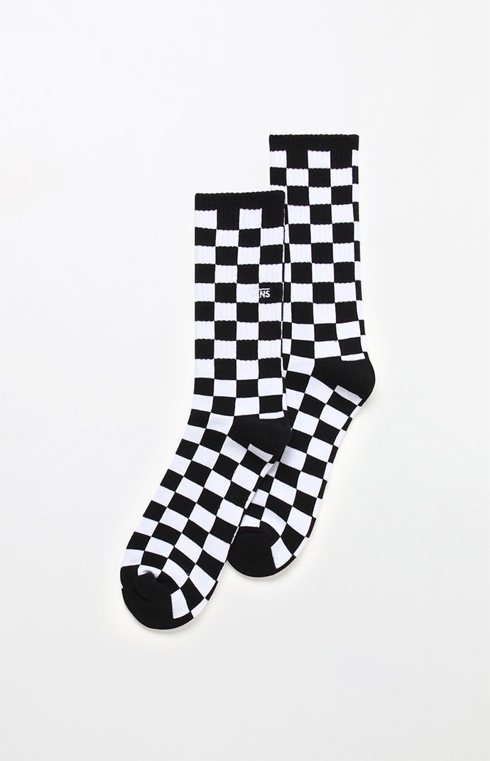 a65c2f63cfe4db Vans Checkerboard Crew Socks - Black White 1Sz