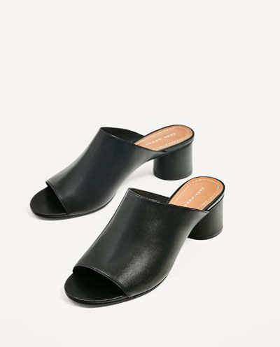 LEATHER MULES-View all-SHOES-WOMAN