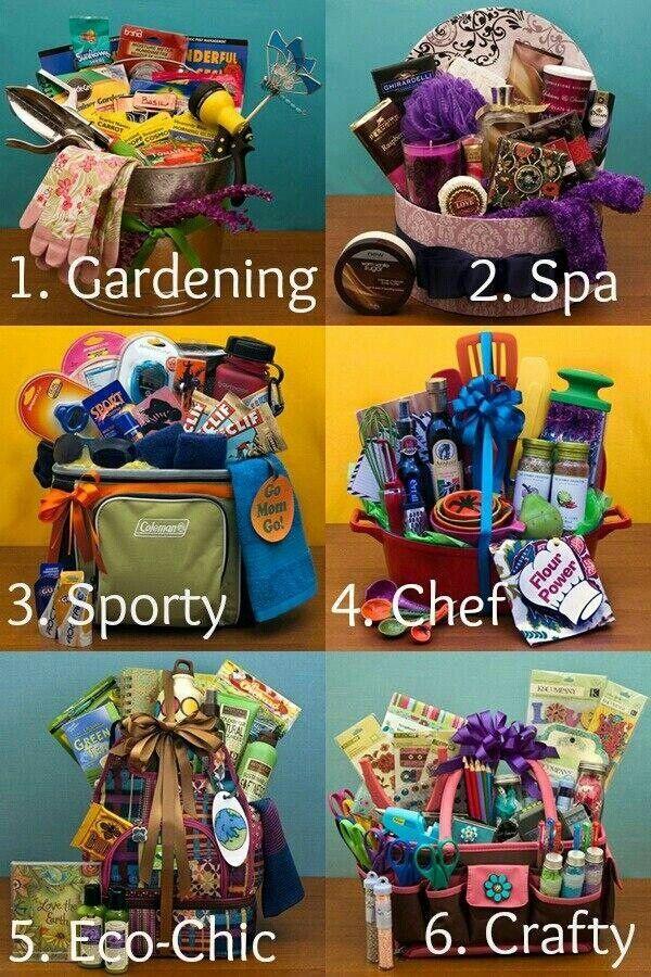 Gardening, spa, sporty, chef, eco & craft lover gift basket ideas. G ...