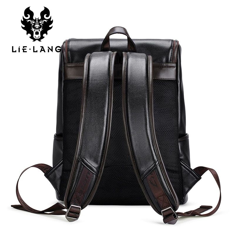 24ce297f9430 Big SALE LIELANG Brand Backpack Men External USB Charge Antitheft School  Bag PU Leather Travel Bag Casual Bagpack 14 Inch Laptop Rucksack