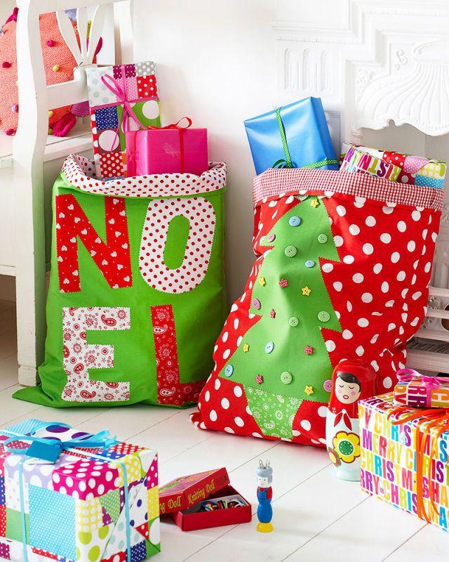 How to make your own Santa sacks for Christmas Santa sack, Santa