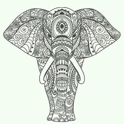 Pin von Romana Baškovská auf omalovánky | Pinterest | Elefanten ...
