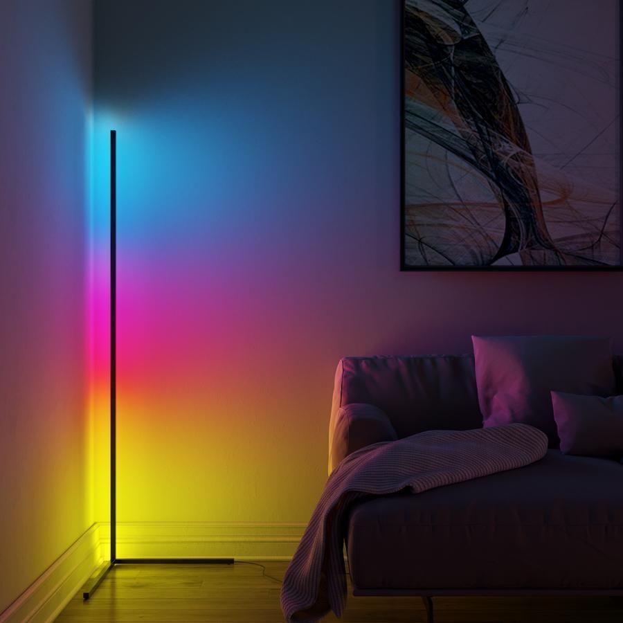 Minimal Lamp Vibrancy Minimalamp Corner Floor Lamp Led Floor Lamp Corner Lamp Corner light for living room