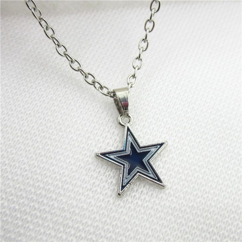 10pcslot football sports dallas cowboys necklace pendants with 50cm 10pcslot football sports dallas cowboys necklace pendants with 50cm chains us necklace jewelry charms aloadofball