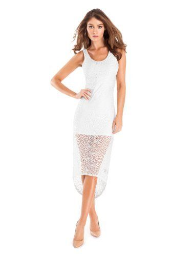 GUESS by Marciano Florence Lace Maxi Dress, WHITE (XS) GUESS by ...