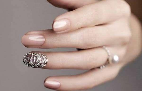 Uñas Decoradas Color Natural Uñas Nails Silver Nails Y Pink Nails