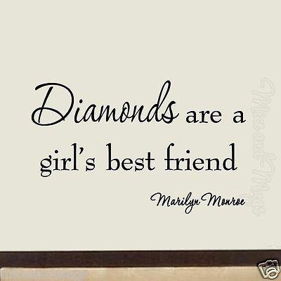 Vwaq Diamonds Are A Girl S Best Friend Marilyn Monroe Vinyl Wall Decal Diamond Are A Girls Best Friend Vinyl Wall Art Quotes Marilyn Quotes