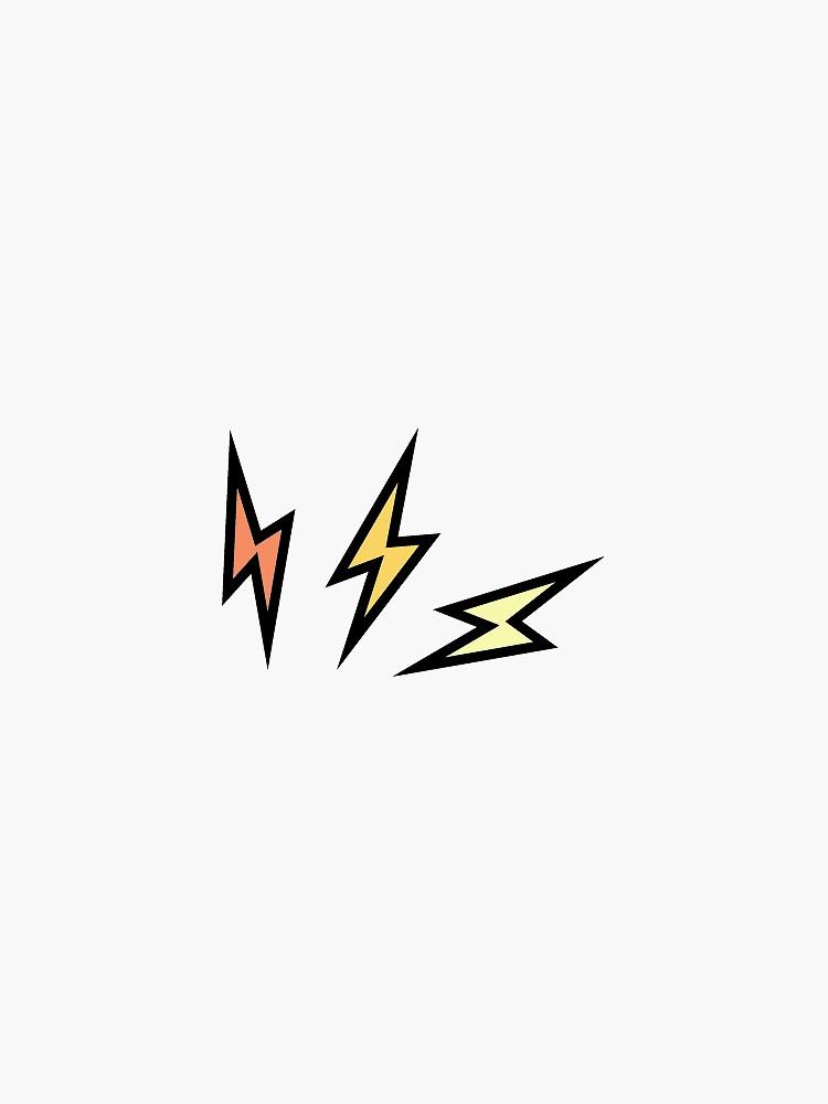 Triple Lightning Bolt Zap Sticker By Sydjofa In 2020 Lightning Bolt Design Lightening Bolt Tattoo Lightning Bolt Tattoo