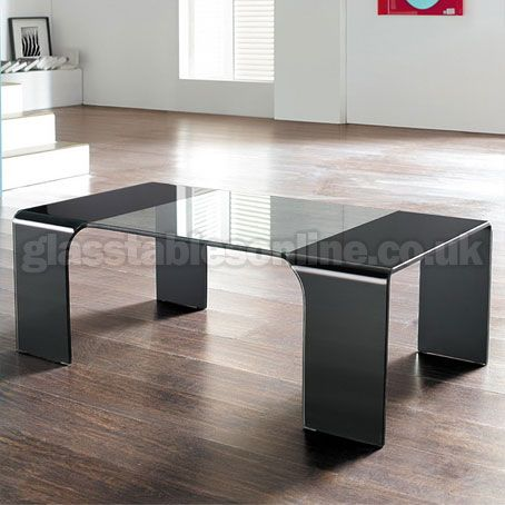 Glass Coffee Table With Black Painted Legs Glass Coffee Tables