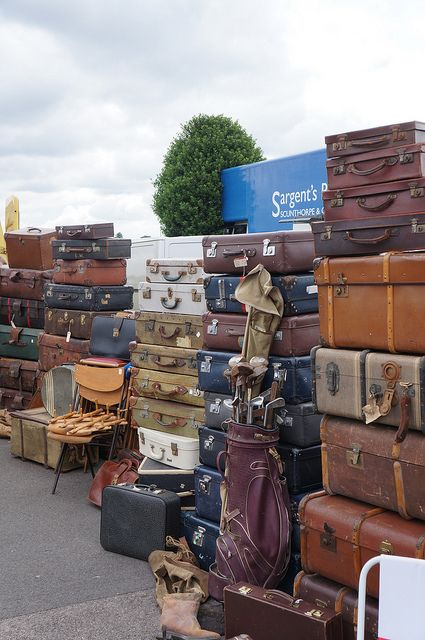 Antiques Leather Suitcases Antiques Antique Market Kempton Park