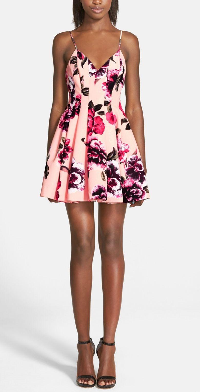 Keepsake The Label Star Crossed Floral Print Fit Flare Dress Nordstrom Dresses Fit Flare Dress Fashion [ 1523 x 780 Pixel ]