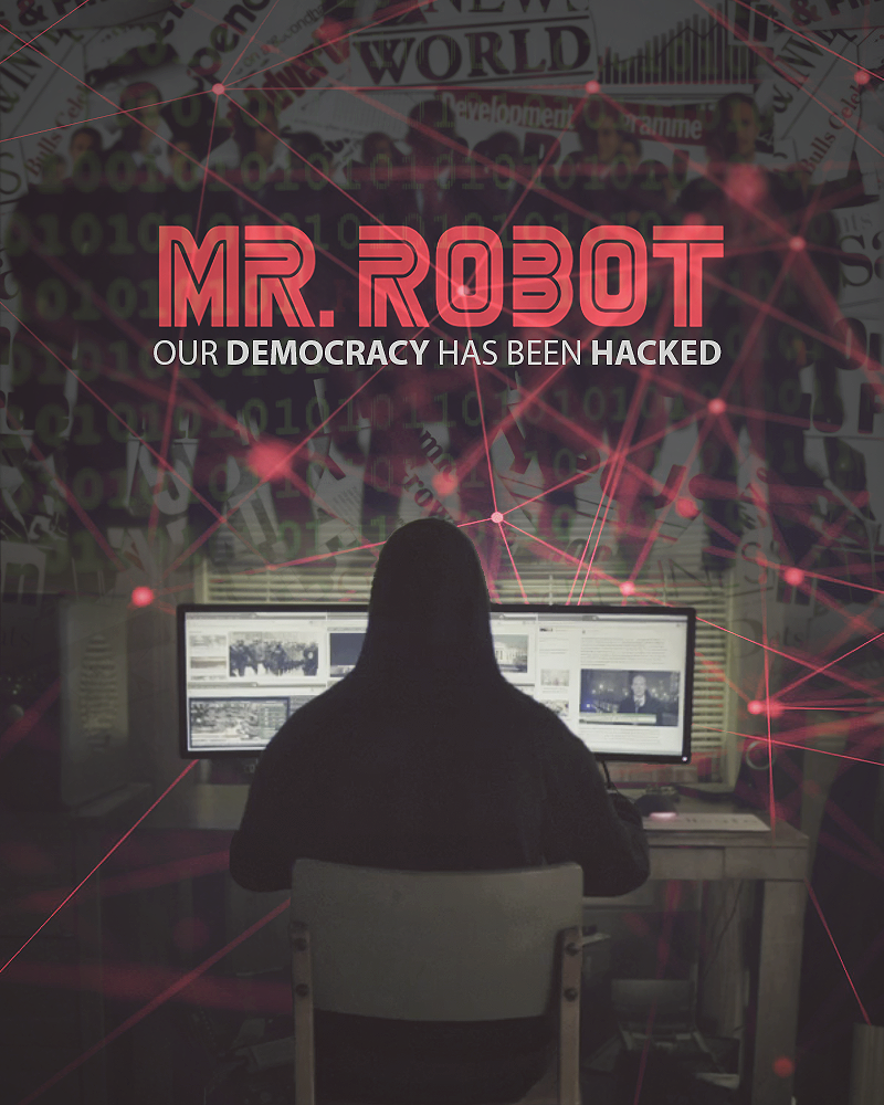 MR ROBOT POSTER TELEVISION TV A4 A3 ART PRINT DESIGN