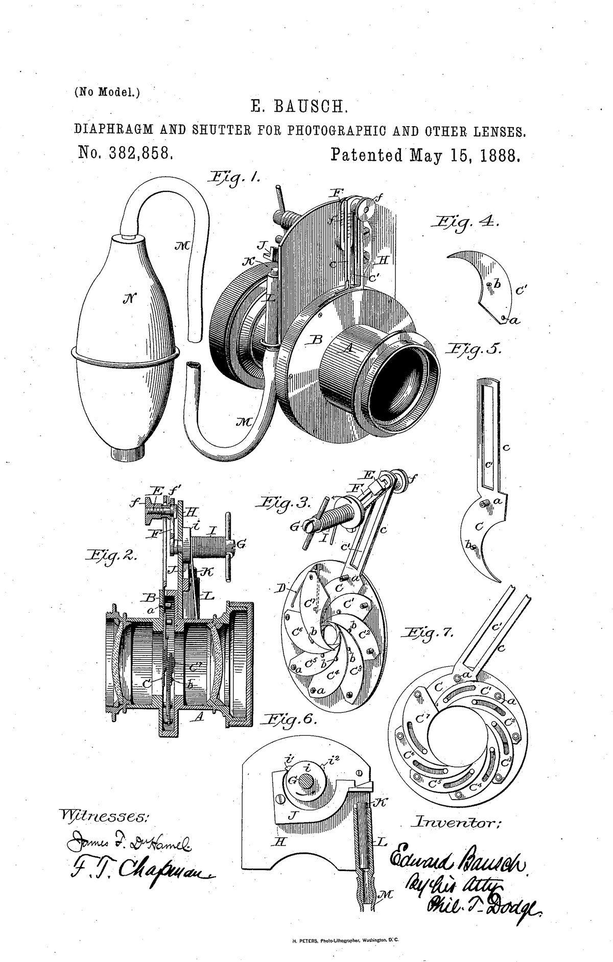 Transitional Iris Diaphragm Shutter, Bausch & Lomb Optical