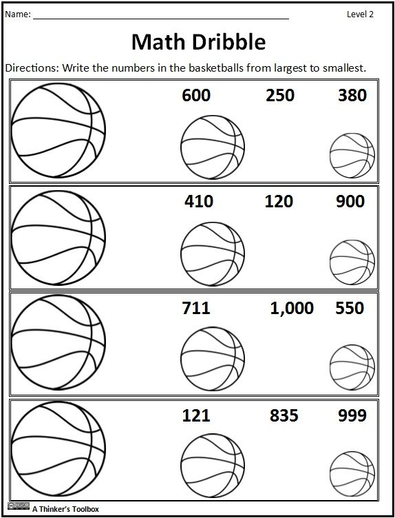 Basketball Math Madness By A Thinker S Toolbox Includes 16 No Prep Math Worksheets That Are Great For Basketball Math Math Worksheets Math Practice Worksheets