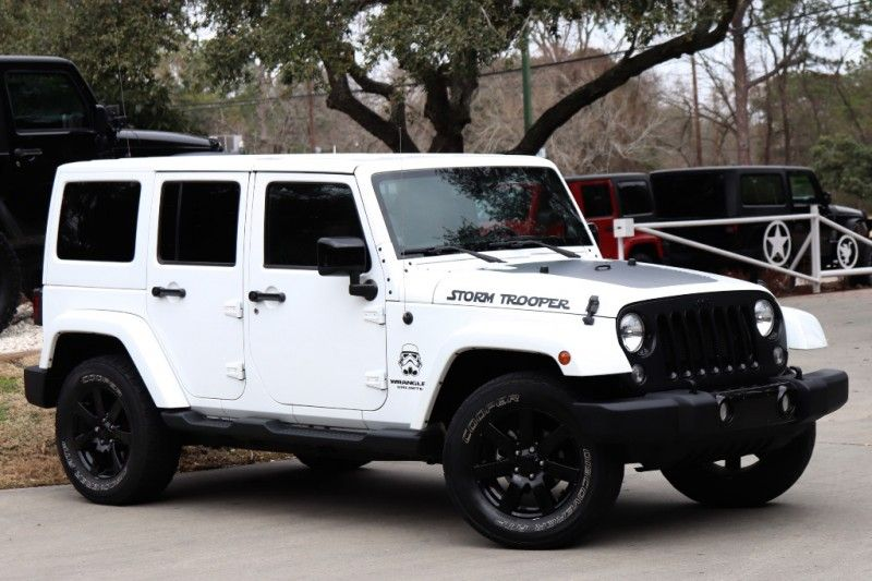 2014 White Storm Trooper Jeep Wrangler Unlimited Altitude 29995 Jeep Wrangler Jeep Wrangler