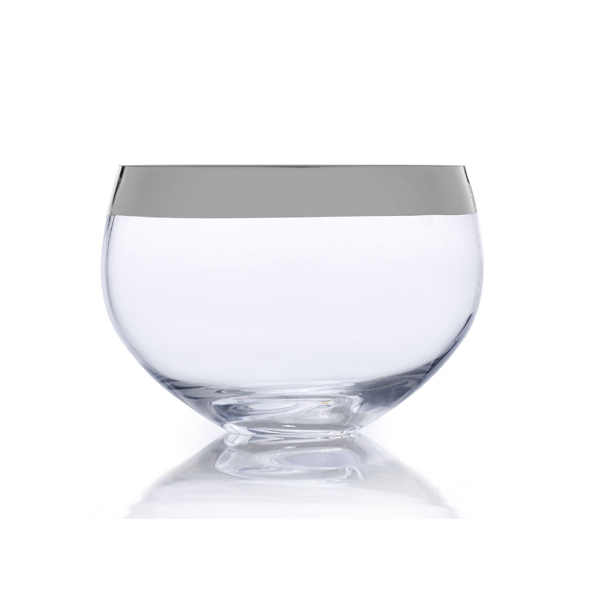 Large Glass Decorative Bowls Mikasa Serenity 9Indecorative Bowl Silver  Discover More