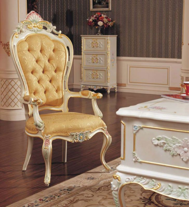 Rococo Style Dining Chair Classic French Antique Dining Room
