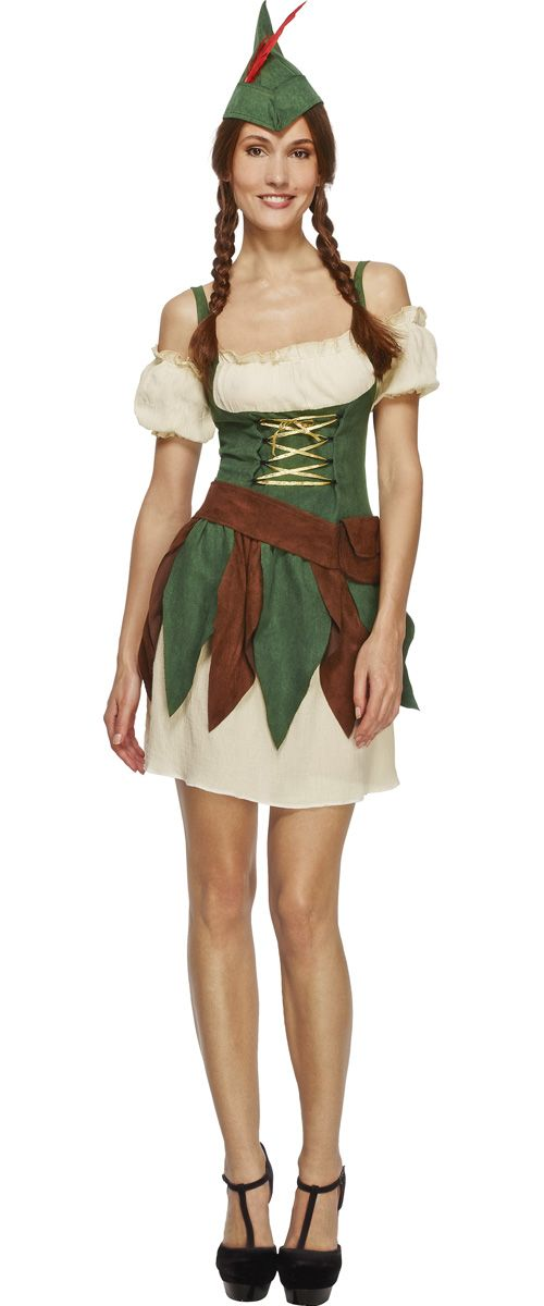 Stoere Dames Carnavalskleding.Sexy Outlaw Stoer Robin Hood Jurkje Carnavalskleding Sprookjes
